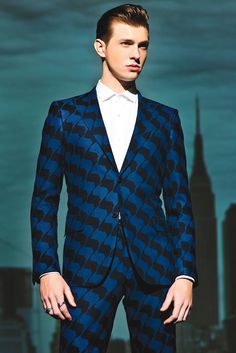 Men's Wear Trend: Hard Core: Simon Spurr's wool suit and cotton shirt.