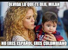 Meme Shakira y Milan colombianos Shakira, Aj Styles Wwe, Colombian Culture, Super Funny, Powerful Women, Funny Memes, Memes Humor, Haha, Jokes