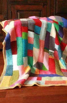 Crochet Afghan: Tunisian Ten Stitch Stash Buster!