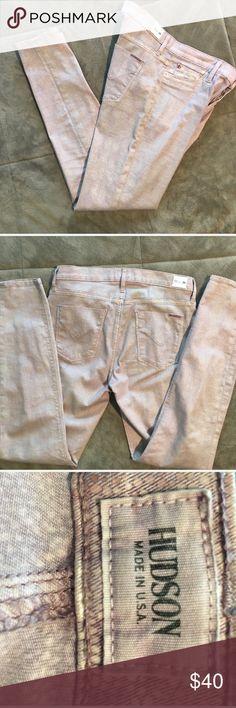 Hudson pink snakeskin Nico skinny jeans Pink snakeskin Nico style skinny Hudson jeans measurements to come Hudson Jeans Jeans Skinny
