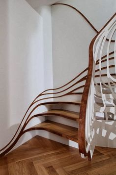 NATURE LOVER, WHIMSICAL: Nature inspired stairs evoke the feeling of walking in nature, in a part of the house that usually has a lot of 90 degree angle. Encourages user to use imagine they are a fairy or an elf living in a tree and using the branches for stairs.