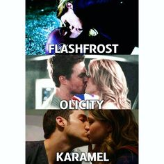 All but flashfrost i like barry with iris
