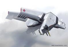 patrol ship by jonone Spaceship Concept, Spaceship Design, Concept Ships, Concept Cars, Futuristic Cars, Futuristic Design, Science Fiction, Cyberpunk, Planes