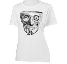 Womens Spooky Anatomy Skull Screen Printed Shirt by SamsaraPrints, $18.00 #shirts #shirt #tshirt #ladies #women #apparel #fashion #style #clothing #etsy #shopping #tops #blouse #tee #anatomy #science #spooky #skull #medical #vintage #goth #teeth #muscles