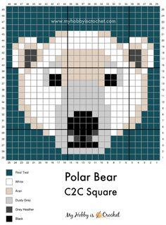 Crochet C2c Pattern, Pixel Crochet, Crochet Chart, Free Crochet, Knitting Charts, Baby Knitting, Knitting Patterns, Mini Cross Stitch, Cross Stitch Animals