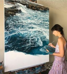 Items similar to SEA TRAVELLER, x Original oil painting, Boat travelling across the ocean, Oil technique by Russian figurative painters of old… on Etsy Painting Inspiration, Art Inspo, Art Quotidien, Art Hoe, Love Art, Painting & Drawing, Painting Of Water, Water Art, Amazing Art