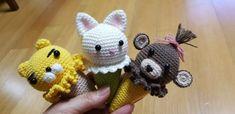 아이스크림 인형뜨기 도안 : 네이버 블로그 Dinosaur Stuffed Animal, Crochet Hats, Teddy Bear, Toys, Crafts, Animals, Amigurumi, Knitting Hats, Activity Toys