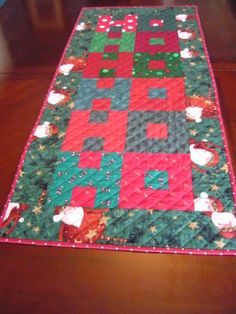 HO HO HO Quilted Table Runner by jberryquossquilts on Etsy, $48.00