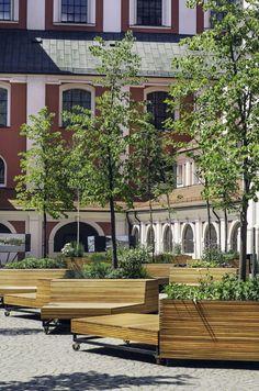 Urbanisme mobile : découvrez des bancs équipés de jardinières montés sur des roues