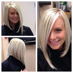 Hair cuts asimetric long angled bobs 56 ideas for 2019 Hair cuts asimetric long Long Asymmetrical Bob, Medium Hair Styles, Short Hair Styles, Angled Bobs, Layered Bobs, Long Stacked Bobs, Stacked Inverted Bob, Angled Hair, Angled Bob Haircuts