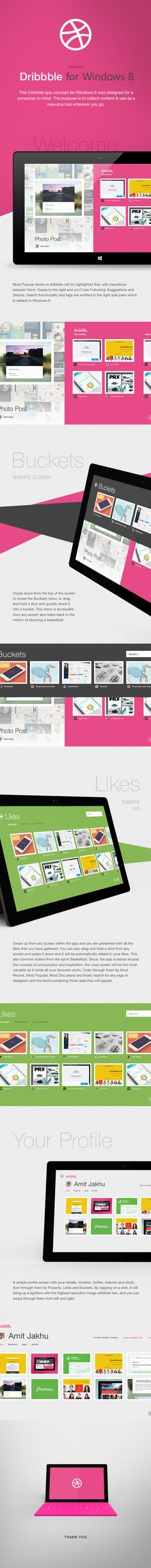 Dribbble for Windows 8 (Concept) by Amit Jakhu