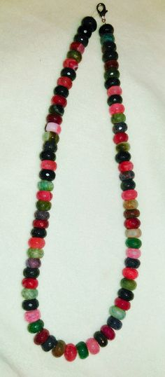 Multicolored Faceted Agate Collar (Large Bead)