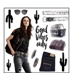 Good vibes only! by htc-los-angeles on Polyvore featuring moda, Abercrombie & Fitch and Yves Saint Laurent