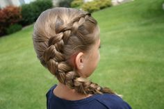 this braid is one of my favorites i wear this all the time to softball. you can again look it up on cute girl hairstyles channel!