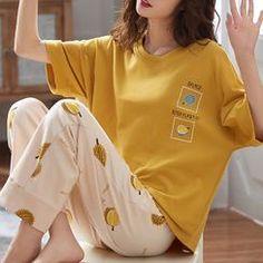 Night Suit For Girl, Girls Night Dress, Korean Girl Fashion, Young Fashion, Indian Fashion Dresses, Girls Fashion Clothes, Cute Pajama Sets, Cute Sleepwear, Cute Skirt Outfits