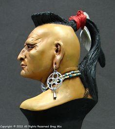 Shawnee Chief Pucksinwah, het blijft een uitdaging om goed te schilderen!