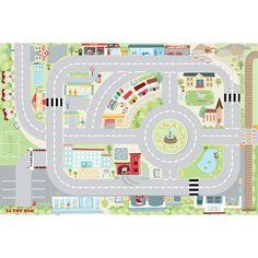 Spielmatte Auto-Teppich 'Vorstadt' 80x120cm
