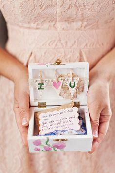 sweet bridesmaid gift | Flora and Fauna #wedding