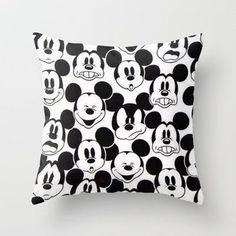 Mickey Mouse Throw Pillow by... from society6.com on Wanelo