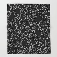Organic - Black and White Throw Blanket by laec | Society6 White Throw Blanket, Throw Blankets, White Throws, High Gloss, Print Design, Vibrant Colors, Organic, Black And White, Metal