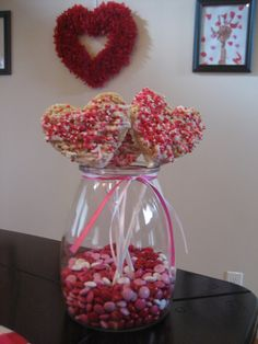 Heart wands at a Valentine's Party #valentine #party