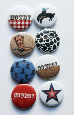Cowboy Flair by aflairforbuttons on Etsy, $6.00