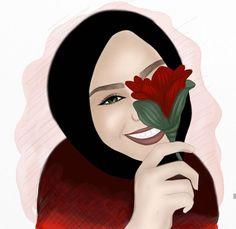 Beautiful Hijab Girl, Beautiful Girl Drawing, Cute Girl Drawing, Cartoon Wallpaper, Hijab Drawing, Girly M, Anime Muslim, Hijab Cartoon, Gangsta Girl