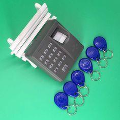 Free Shipping Fingerprint Electric Door Access Controller 125khz EM/RFID Card Reader +10 Piece Keyfob Kit