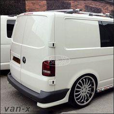 VW T5 Rear Bumper Lower Corner Spoiler Van-X Style