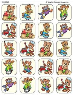 Amazon.com: Teacher Created Resources Summer Bears Stickers, Multi Color (5740): Office Products Teacher Created Resources, Concept Ships, Paper Dolls, Game Art, Preschool, Arts And Crafts, Teddy Bear, Memories, Stickers