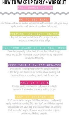 How To Wake up Early + Workout    #health  #healthfulhints