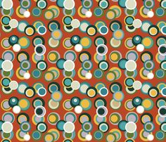 non concentric circus circles fabric by scrummy on Spoonflower - custom fabric