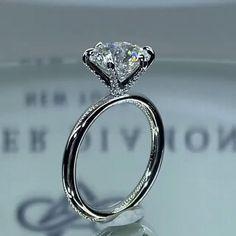 Oval Halo Engagement Ring, Handmade Engagement Rings, Dream Engagement Rings, Perfect Engagement Ring, Engagement Ring Styles, Unique Diamond Rings, Unique Rings, Solitaire Diamond, Forever Diamonds Ny