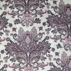 Home Decor Fabric   Monroe   Sandra Paisley Pink