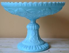 French Portieux Vallerysthal Milk Glass Pedestal by HauteBlooded, $125.00