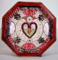 Barbados Sailor's Shell Valentine, c. 1875 Gorgeous!!!