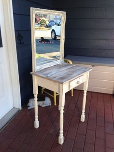 how to make a vanity stool | easy DIY | Pinterest | More Vanity ...
