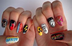 Day 294: Back to the Future Nail Art - - NAILS Magazine