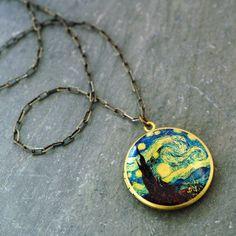 The Starry Night necklace pendant.  #VanGogh. #DoctorWho