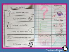 Scientific Method Notebook Lesson and Reflection Third Grade Science, Middle School Science, Elementary Science, Science Classroom, Teaching Science, Teaching Ideas, Fourth Grade, Classroom Ideas, Science Resources