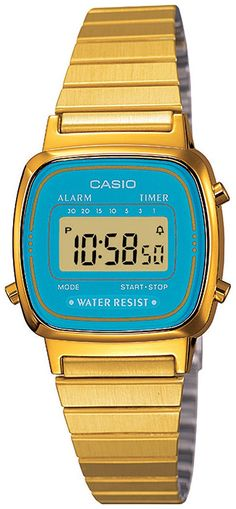 Casio Women's LA670WGA-2 Gold Stainless-Steel Quartz Watch with Digital Dial >>> See this great product. (This is an Amazon Affiliate link)