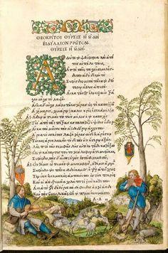 Theocritus' Idylls, illustrated by Albrecht Dürer. Printed by Aldus Manutius, Venice 1496