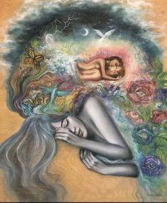 Psychic Dreams, Flame Art, Art Paintings For Sale, Goddess Art, Visionary Art, Pics Art, Surreal Art, Art Inspo, Fantasy Art