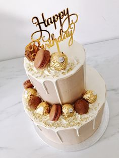 22nd Birthday Cakes, 21st Birthday Cake For Girls, Birthday Drip Cake, Brithday Cake, Elegant Birthday Cakes, Happy Birthday Cake Images, Beautiful Birthday Cakes, Homemade Birthday Cakes, Adult Birthday Cakes