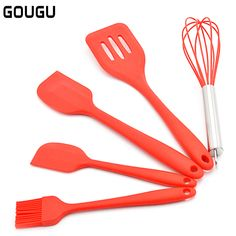 IMCROWN Silicone Cooking Utensils Set,11PCs Copper Plated Handle Silicone Kitchenware Nonstick Cooking Shovel Spoon Kitchen Tool Set Silicone Cooking Kitchen Utens