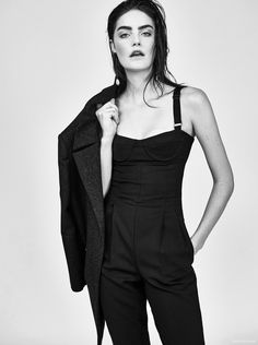 Daphne Velghe by Jeremy Choh. Look - Jumpsuit and Coat Max Mara, Earrings Dinosaur Design, Ring Sarah and Sebastian