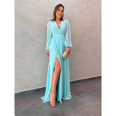 Prom Dresses With Sleeves, Satin Dresses, Bridesmaid Dresses, Event Dresses, Formal Dresses, Iranian Women Fashion, Mint Dress, Elegant Outfit, Couture Dresses