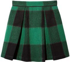 Sea 2 Pleat Mini Skirt on shopstyle.com