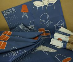 Mid Century Chairs tea towel by Walsh Studio