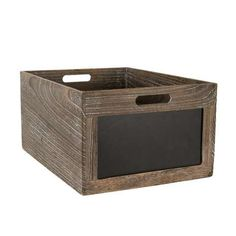 Crafted from paulownia wood with visible grains and knots, this storage box…